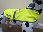 HIGH VISIBILTY HI-VIS DOG VEST - COAT IN YELLOW PERSONALISED WITH YOUR PETS NAME