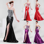 Ladies Stunning Beaded Evening HIgh-Low Gown Party Prom Formal Bridesamaid Dress