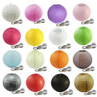 "10X 6"",8"",10"",12"" Paper Lanterns + 10X white Led Keyring Bulbs for Wedding Party"