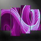 PURPLE WAVES WALL ART CASCADE CANVAS PRINT PICTURE MANY SIZES FREE UK P&P