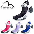 3 Pairs More Mile Miami Sports Ankle Running Socks - Mens Ladies Womens