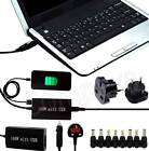 Universal Mains + Car Laptop Charger AC Power Adapter + USB For A950ES n Various
