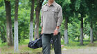 Man khaki Quick Dry Outdoor Hiking Bush Walking UV50+ Zip Off Shirt Ultra Thin