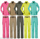 Woman Quick Dry Outdoor Hiking Bush Walking UV50+Zip Off Shirt+Pants Set Thin