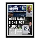 Personalised West Bromwich Albion West Brom FC Football Club Shirt Newspaper