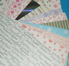 10 x Sheets Quality A4 Card Stock - Scrapbooking, crafts, cards various designs