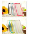 New iphone 5 5G TPU bumper with hard back case cover + Free Screen Protector