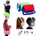 Audio Bundle with Messenger Bag Storage Case and Headphones for vTech InnoTab 3