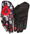661 COMP Repeater Full Finger Glove SixSixOne BLACK/RED
