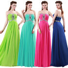 Stunning Beaded Sexy Zipper Back Party Gown Prom Ball Formal Evening Long Dress
