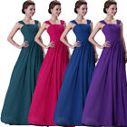 Vintage 4 Colors Long Formal Dresses Evening Party Bridemaid Prom Ball Gowns