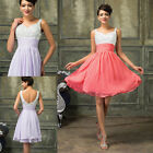 Sale Sweetheart Mini Party Short Dress Homecoming Bridesmaid Cocktail Prom Gowns