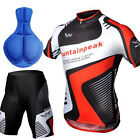 New Mens Bicycle Cycling Outdoor Wear Sports Jersey Top+Shorts Pants Sz M-3XL