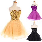 2013 Sequins Sweetheart Bridesmaid Prom Ball Cocktail Party Gown Short Dress HOT