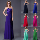 7 Color Strapless Full Length Chiffon Evening Prom Bridesmaids Dress 6-20 cheap~