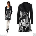 847 LADIES BEAUTIFUL WARM FINE KNIT COAT LONG JACKET 2 POCKETS CARDIGAN SIZE S/M