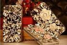 Deluxe Bling Gemstone Crystal Diamonds Flowers Cases Covers For iPhone 5C 5CZC