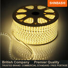 Warm White 230V Waterproof SMD 3528LED Rope Strip Light Lights 5M 10M 15M 20M UK