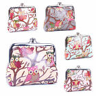 Ladies Women Oilcloth OWL Small Coin Purse Girl Wallet