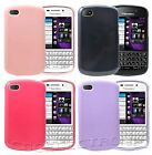 New Glossy Jelly Rubber soft case cover for Blackberry Q10