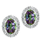2.00 Ct 925 Sterling Silver Oval Removable Jacket Stud Earrings 7x5 mm