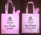 "Pink Shoulder Tote Bag ""KEEP CALM AND REMEMBER YOUR PIN"" Stocking Filler For Her"