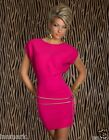 585 STUNNING CLUBBING PARTY KNITTED SHORT SLEEVE MINI BODYCON DRESS