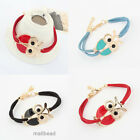 Cute Fashion Womens Girls Vintage Owl Bracelet Bangle Chains Jewelry 3 Colors