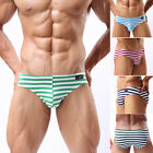 New Multicolors Men's Smooth Stripe Underwear Shorts Boxer Trunks Briefs Panties