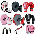 TurnerMAX Gel Focus Pads Boxing Gloves and Hook Jab Pad Set Punch Mitts Bags MMA