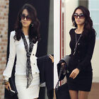 New Stylish Women's Lady Sexy Dress Casual Round Neck Long Sleeve Slim Dress