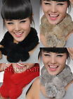 1p New Real REX rabbit fur scarf rex rabbit ball wrap cape shawl neck warmer hot