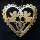 VINTAGE Shabby Chic Xmas Tree Hanging Heart Silver Reindeer Angel Decoration