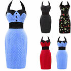 2014 NEW Vintage Style 50's Pencil Wiggle Cocktail Party Evening Dress Sz 6-20