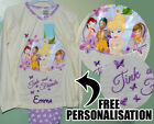 BNWT PERSONALISED TINKERBELL TINK AND FRIENDS PYJAMAS  5-6 6-7 7-8 9-10  years