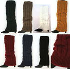 USA SELLER cable knit leg warmers black cream mocha navy burgundy grey gold