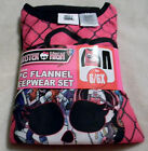 Monster High Girl's 2 Piece 100% Poyester Pajama Set Flame Resistant~Soft & Warm