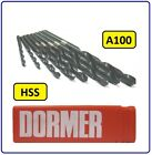 HSS JOBBER DRILL BITS FOR USE ON STEEL / METAL 1.05MM TO 3.0MM A100 DORMER A100