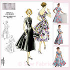 Vogue V1084 Sewing Pattern Misses' Flared Dress - Vintage 1950's Design