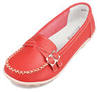 Women Casual Genuine Leather Ballet Flats Shoes Slip On Loafers Round Toe Ladies