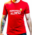 FERRARI T-SHIRT TSHIRT - FERNANDO ALONSO RED DESIGN - BRAND NEW WITH TAGS
