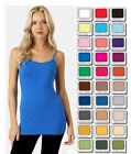 Womens Plus Size Bozzolo Tank Top Cami Long Spaghetti Strap Basic XL/1X/2X/3X