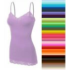 Womens Plus Size Lace Tank Top Cami Bozzolo Long Layering Ba