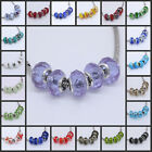 Wholesale Crystal Glass European Spacer Beads Fit Bracelet Jewelry Findings