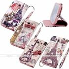 Crystal Faux Leather Wallet Stand Case Cover For Samsung Galaxy S3/4 i9300 i9500