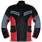 New Mens CE Armoured Motorbike Jacket Cordura Quilted Water Resistant Reflective