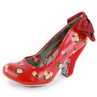 Irregular Choice Easy P Sea Womens Slip On Size 3,4,5,6,7,8 New Shoes Heels Red