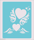 Stencil Hearts and Wings Scrapbook Crafts Paint Wall Decoration Fabric #73
