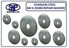 M6 X 25MM  -  6MM X 25MM A2 STAINLESS STEEL REPAIR WASHER PENNY WASHER ST/STEEL