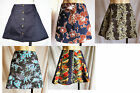 "Mini skirt 15"" BLACK or Hawaiian size S UK 10 thicker material winter/summer new"